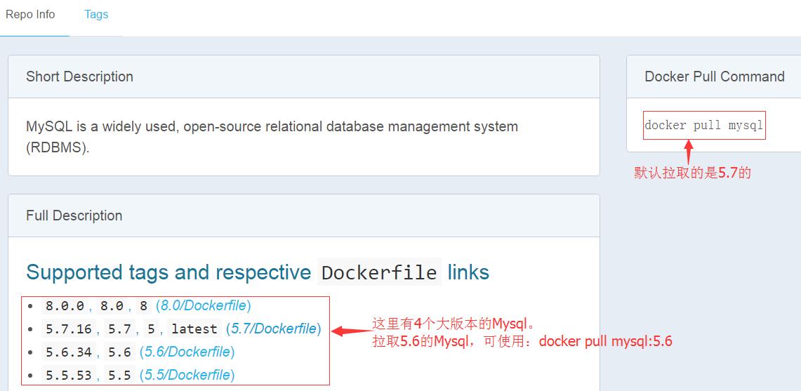 搜索MySQL镜像